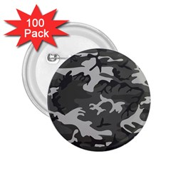 Initial Camouflage Grey 2.25  Buttons (100 pack)