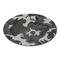 Initial Camouflage Grey Oval Magnet