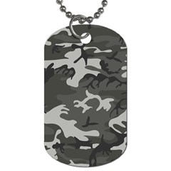 Initial Camouflage Grey Dog Tag (One Side)