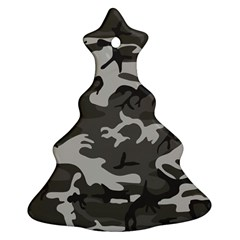 Initial Camouflage Grey Ornament (christmas Tree)