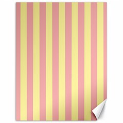 Pink Yellow Stripes Line Canvas 18  x 24