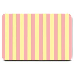 Pink Yellow Stripes Line Large Doormat