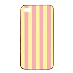 Pink Yellow Stripes Line Apple Iphone 4/4s Seamless Case (black)