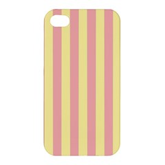Pink Yellow Stripes Line Apple Iphone 4/4s Hardshell Case
