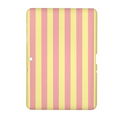 Pink Yellow Stripes Line Samsung Galaxy Tab 2 (10 1 ) P5100 Hardshell Case