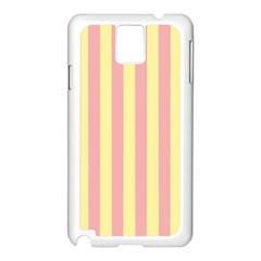 Pink Yellow Stripes Line Samsung Galaxy Note 3 N9005 Case (white)