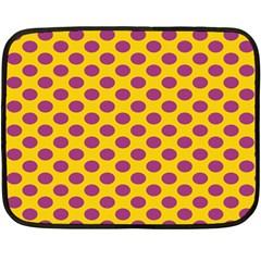 Polka Dot Purple Yellow Fleece Blanket (Mini)