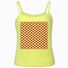 Polka Dot Red White Yellow Spaghetti Tank
