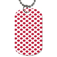 Polka Dot Red White Dog Tag (One Side)