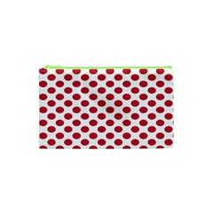 Polka Dot Red White Cosmetic Bag (xs)