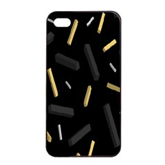 Rectangle Chalks Apple Iphone 4/4s Seamless Case (black)