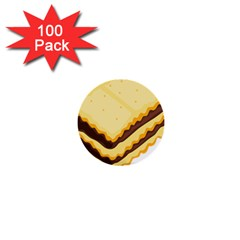 Sandwich Biscuit Chocolate Bread 1  Mini Buttons (100 pack)