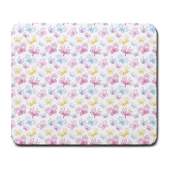 Pretty Colorful Butterflies Large Mousepads