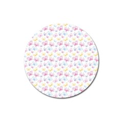 Pretty Colorful Butterflies Magnet 3  (round)