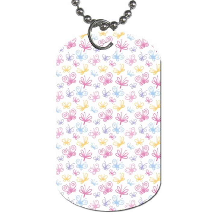 Pretty Colorful Butterflies Dog Tag (One Side)