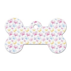 Pretty Colorful Butterflies Dog Tag Bone (One Side)