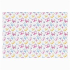 Pretty Colorful Butterflies Large Glasses Cloth (2-Side)