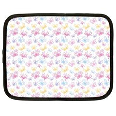 Pretty Colorful Butterflies Netbook Case (XXL)