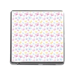 Pretty Colorful Butterflies Memory Card Reader (square)