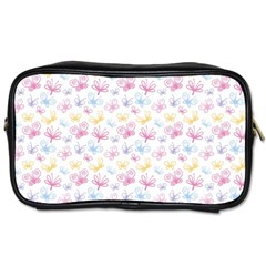 Pretty Colorful Butterflies Toiletries Bags
