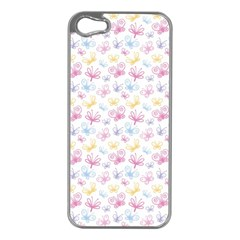 Pretty Colorful Butterflies Apple Iphone 5 Case (silver)