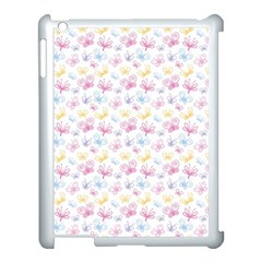 Pretty Colorful Butterflies Apple Ipad 3/4 Case (white)