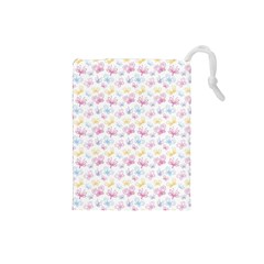Pretty Colorful Butterflies Drawstring Pouches (small)