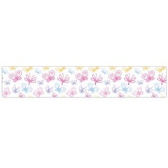 Pretty Colorful Butterflies Flano Scarf (large)