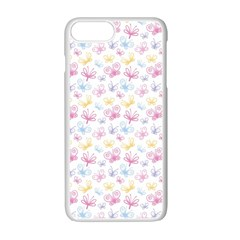 Pretty Colorful Butterflies Apple Iphone 7 Plus White Seamless Case