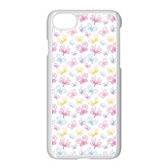 Pretty Colorful Butterflies Apple Iphone 7 Seamless Case (white)