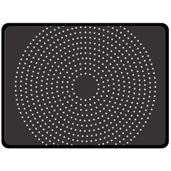 Round Stitch Scrapbook Circle Stitching Template Polka Dot Double Sided Fleece Blanket (large)