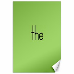 Sign Green The Canvas 24  x 36