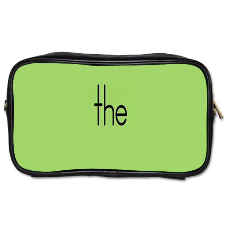 Sign Green The Toiletries Bags