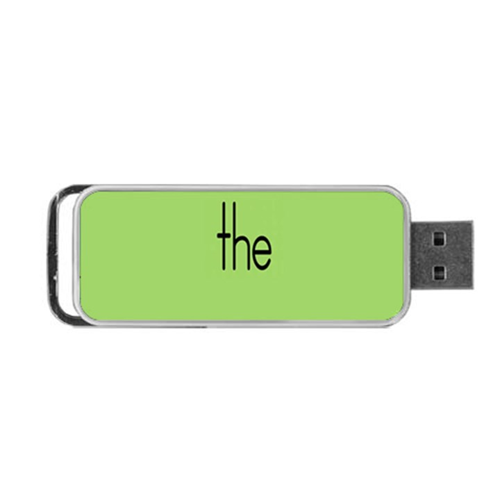 Sign Green The Portable USB Flash (One Side)