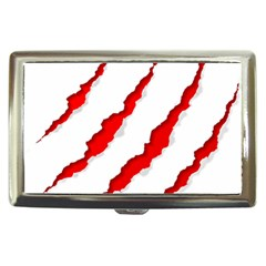 Scratches Claw Red White Cigarette Money Cases