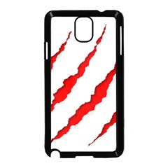 Scratches Claw Red White Samsung Galaxy Note 3 Neo Hardshell Case (black)