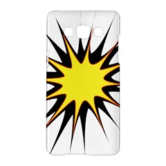 Spot Star Yellow Black White Samsung Galaxy A5 Hardshell Case