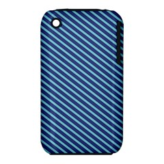 Striped  Line Blue Iphone 3s/3gs
