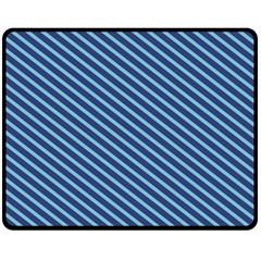 Striped  Line Blue Double Sided Fleece Blanket (medium)