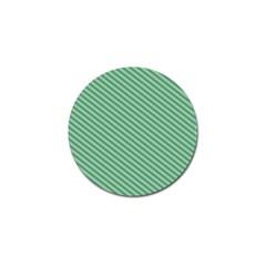Striped Green Golf Ball Marker (10 Pack)