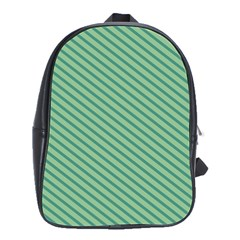 Striped Green School Bags(Large)