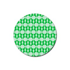 Sign Green A Rubber Coaster (Round)