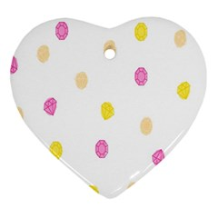 Stone Diamond Yellow Pink Brown Ornament (Heart)