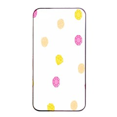 Stone Diamond Yellow Pink Brown Apple Iphone 4/4s Seamless Case (black)