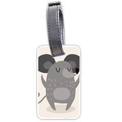 Tooth Bigstock Cute Cartoon Mouse Grey Animals Pest Luggage Tags (two Sides)