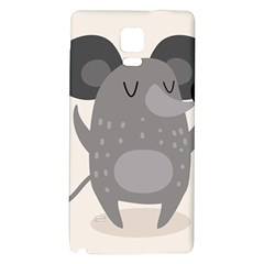 Tooth Bigstock Cute Cartoon Mouse Grey Animals Pest Galaxy Note 4 Back Case