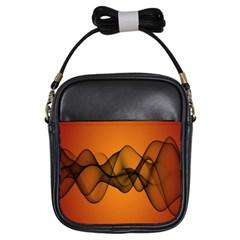 Transparent Waves Wave Orange Girls Sling Bags