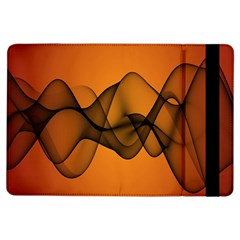 Transparent Waves Wave Orange Ipad Air Flip
