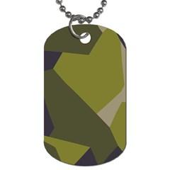 Unifom Camuflage Green Frey Purple Falg Dog Tag (One Side)