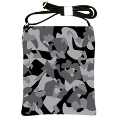 Urban Initial Camouflage Grey Black Shoulder Sling Bags